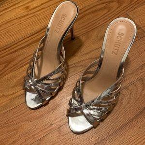 Schutz silver heels size 7 unworn